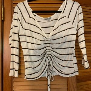 Charlotte Russe Women's Size Large Striped CropTop